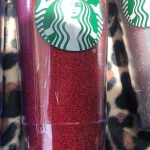 Starbucks Other - 3 Starbucks Glitter Tumblers Red, Blue and…